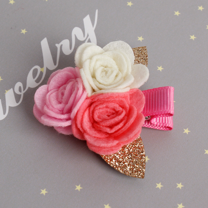 Baru Camellia Bunga Jepit Rambut Lucu Kartun Jepit Rambut untuk Gadis - Aksesori pakaian - Foto 2