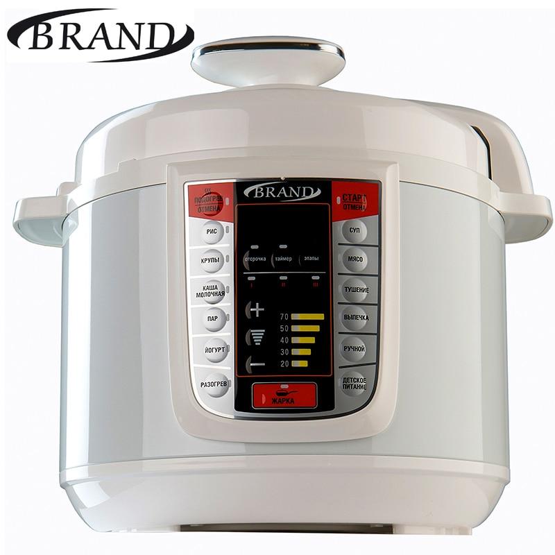 BRAND6051 Electric Pressure Cooker, 5L , Multivarka Cooking fast Rice cooker, Digital control, multicooker