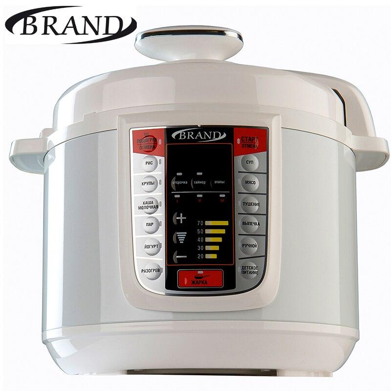BRAND6051 Pentola A Pressione Elettrica, 5L, Multivarka di Cottura fornello di Riso veloce, controllo Digitale, multicooker