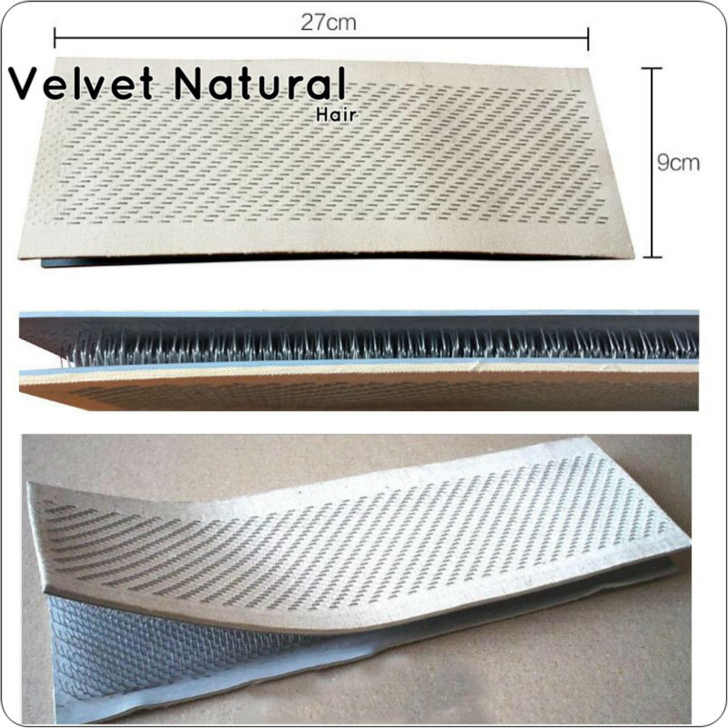 Hair Holder Drawing Mat 27cm x 9cm Bulk Hair Extensions Holder For Human Bulk Hair Extensions