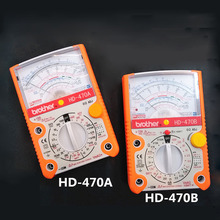 Professional-grade full-protection AC-DC pointer multimeter Resistance/current test Taiwan Brothers HD-470A  HD-470B sanwa ta55 analog multitesters multifunction multi range pointer multimeter on off beep 30a dc current test