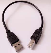 USB 2.0 A type Male to USB B Type Male USB-B Printer Scanner Hard Disk cable 30cm 1ft 0.3m, By China post with tracking number(China)
