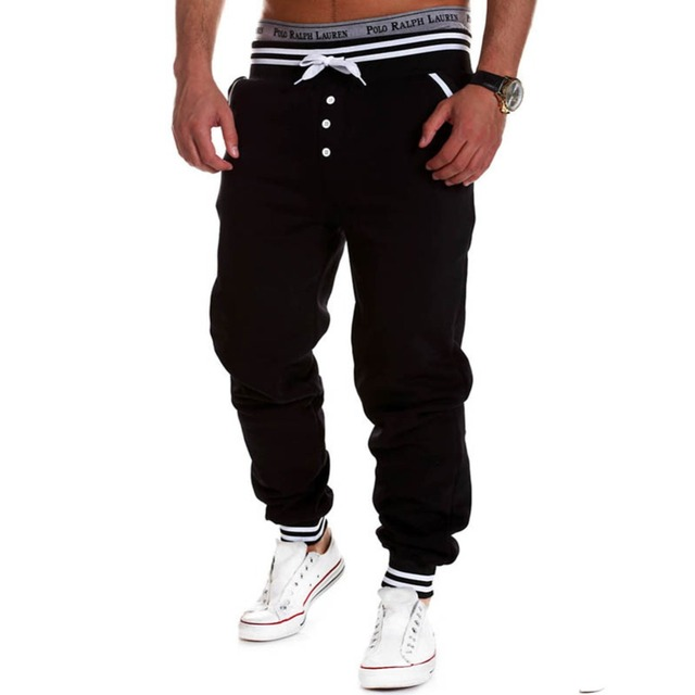 Lisli Men's Harem Joggers Baggy Hip Hop Jogger Clothing Mens Casual Jogger Rock Sweat Pants Male Trousers 01c0114