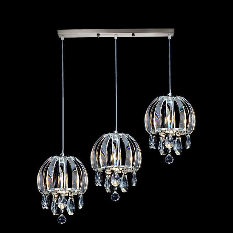 Bar w stylu rustykalnym wisiorek oświetlenie nowoczesny wisiorek z kryształem oprawy oświetleniowe jadalnia wisiorek światła mieszkalnych szkło lampa