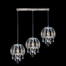 hot deal buy modern pendant lamp vintage bar crystal pendant light fixtures dining room residential kitchen lighting chrome pendant lamps