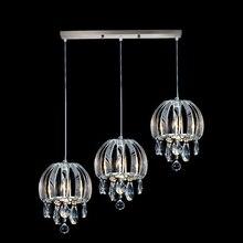 Moderno colgante lámpara de barra de la vendimia de cristal accesorios de luz colgante de comedor cocina chrome colgante lámparas de iluminación residencial