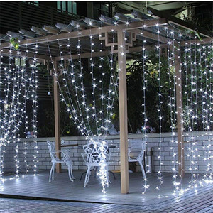 Image 5 - 3x3 led 고드름 요정 빛 플러그 eu 갈 랜드 커튼 led 문자열 램프 크리스마스 야외/실내 장식 크리스마스 결혼식 hallowen