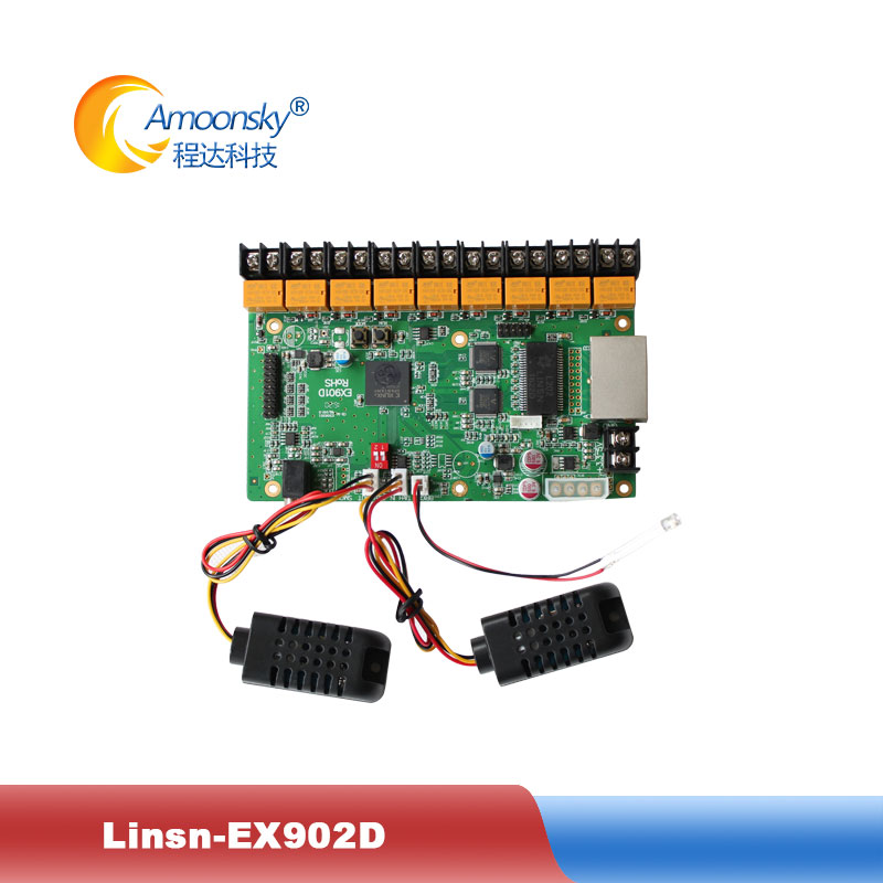Linsn EX902 EX902D multifunction board LED Display led control card supports brightness temperature detection and audio