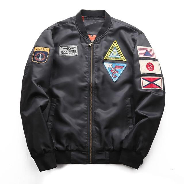 DIMUSI Bomber Jacket Mens  Ma-1 Flight Jacket Pilot Air Force Male Ma1 Army Green Military motorcycle Jacket and Coats 6XL,TA039 4