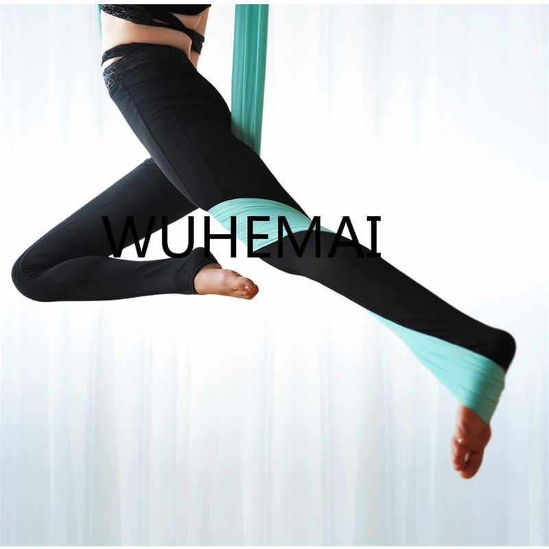 Wuhemai Йога-гамак качели ткань подвесная растягивающаяся устройство полета анти-Гравитация профессиональный Йога пояс Эластичный Йога зал