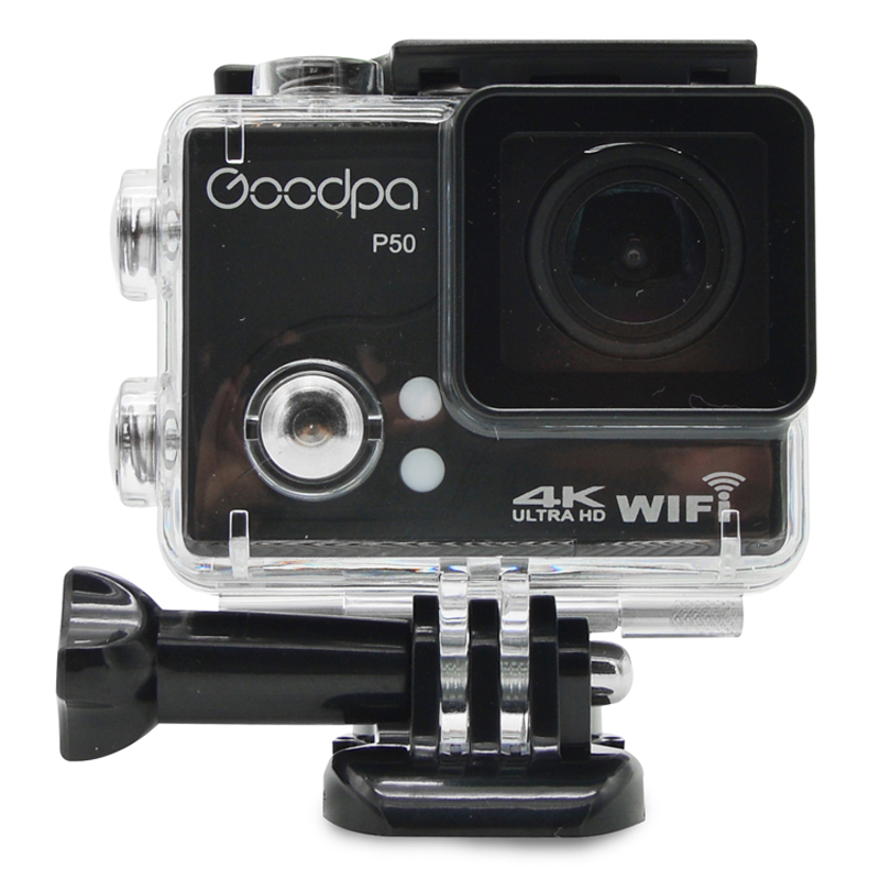 Original Goodpa P50 Action Camera Ultra HD 4K WiFi 1080P/30FPS 2.0 LCD 170D Lens Helmet Cam Waterproof P50 4K Pro Sports Camera wimius 20m wifi action camera 4k sport helmet cam full hd 1080p 60fps go waterproof 30m pro gyro stabilization av out fpv camera