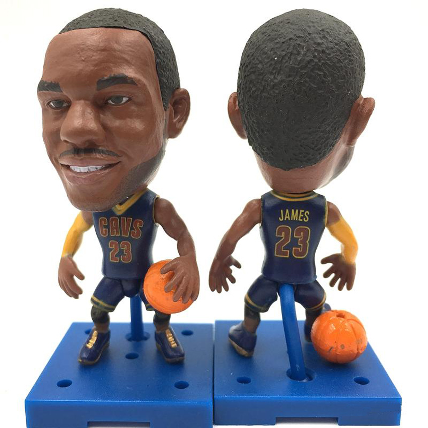 New KODOTO SoccerWe CAV LeBron James movable moving Basketball player star display collection dolls toys