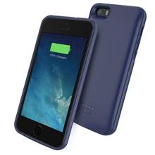 for iPhone 11 SE 5 5S Battery Charger Case 4000mAh External Power Bank Charging Cover for iPhone XS 7 8 plus 6 6S Battery Case(China)