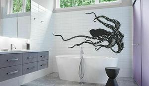 Image 1 - Zee dier gigantische octopus tentakels vinyl muur applique marine stijl badkamer Home decoratie beweegbare kunst wallpaper YS19
