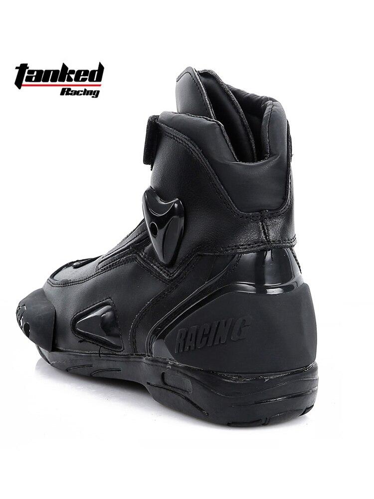TANKED off-road stiefel racing motorrad stiefel nicht-slip wasserdichte männer vier jahreszeiten kurze pull stiefel motorrad stiefel
