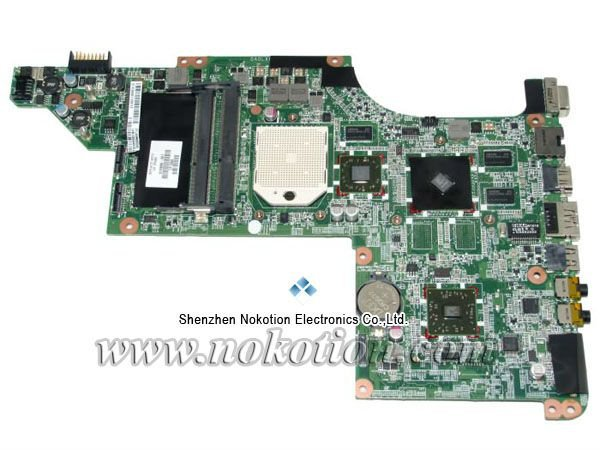 615686-001 laptop motherboard for HP Pavilion DV7 AMD motherboard ATI Graphics DDR3 RAM full Tested  free shipping 609787 001 free shipping laptop motherboard for hp pavilion dv7t dv7 4000 hm55 ati ati hd5470 512 ddr3 da0lx6mb6h1