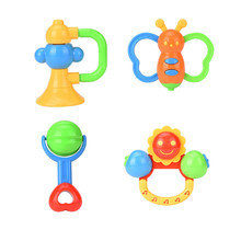 5d6a8b448 2018 New 4PC Baby Rattles Teether Ball Shaker Grab And Spin Rattle Musical  Toy Gift Products