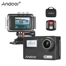 Andoer AN300 Action Camera 4K WiFi 16MP Sports Cam Novatek 96660 Waterproof w/Remote Control Case Support Time Lapse Slow Motion