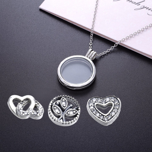 M Love & Family Petites Necklace Women Original 925 Sterling Silver Jewelry Clear CZ Necklaces & Pendants For Women DIY Jewelry