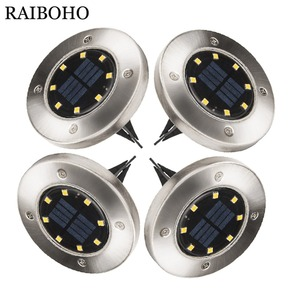 4PCS Solar Powered Disk Lights