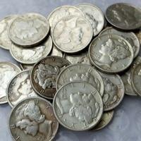 90 Silver Mercury Head Dimes A Set Of 1916 1945 28pcs Dates Nice Quality Coins Retail