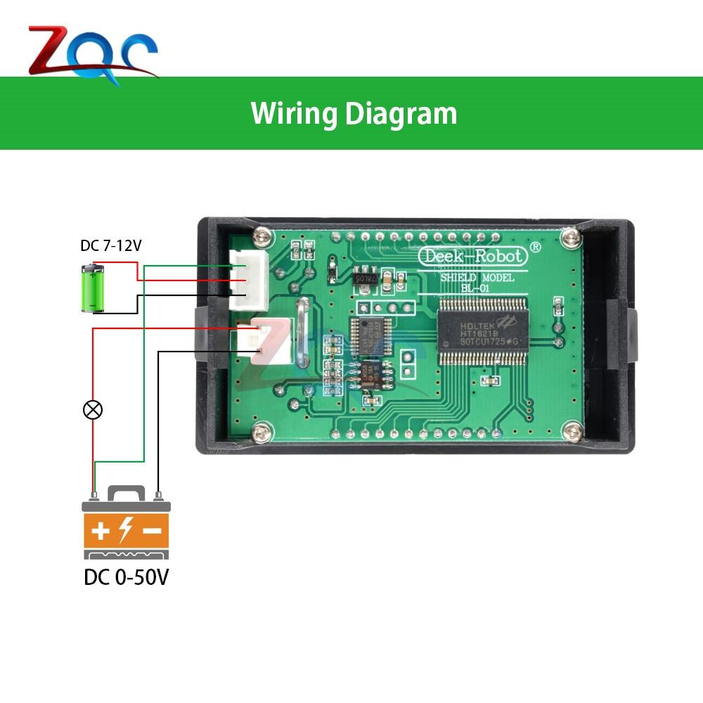 hight resolution of 1 x dc 0 50v 5a 250w led digital voltmeter ammeter wattmeter voltage current power meter volt detector tester monitor 12v 24v 36v