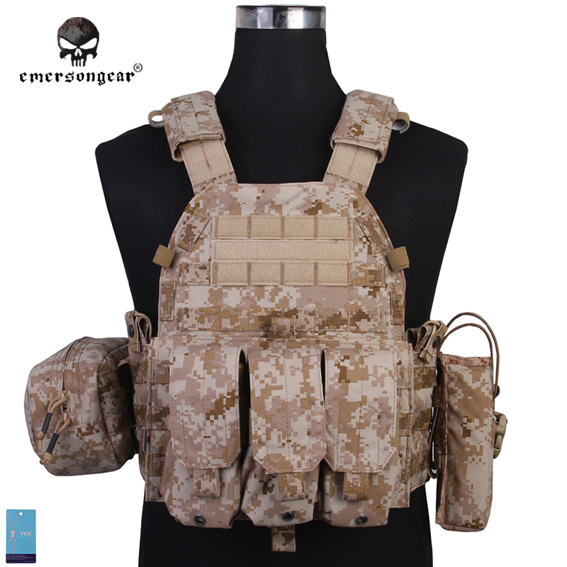 Emersongear LBT6094A Style Vest With Pouches Airsoft Painball Military Army Combat Gear EM7440E AOR1