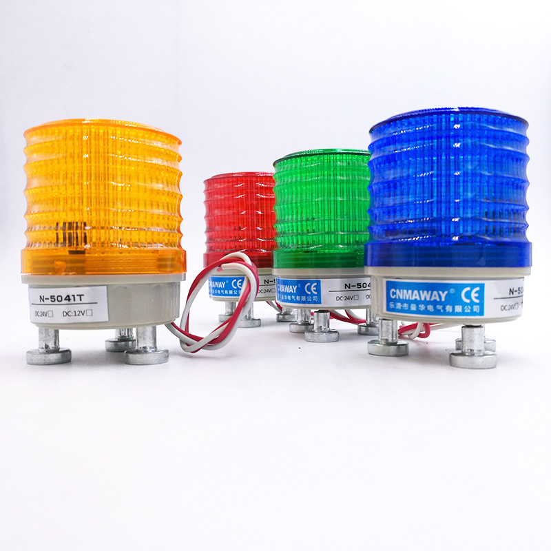 Alarm Lamp no Sound Gate Motor Use Indicator Light Strobe Signal Warning Light Lamp Small Flashing Light Security Alarm 12v 24v 220v Led