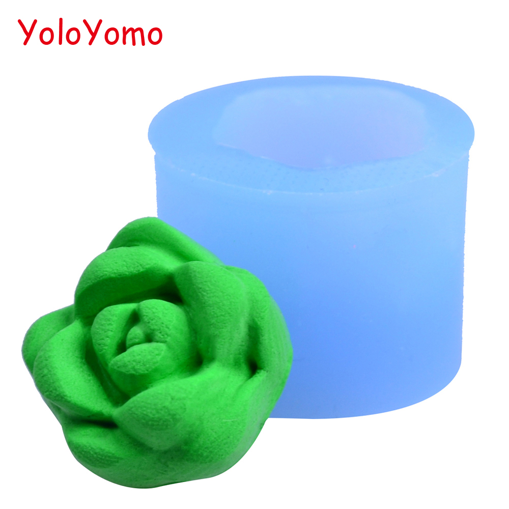 Diy Handmade Sugarcraft Resin Fimo Clay Fondant H183yl 22.2mm 3d Flower Silicone Mold Jewelry Cookie Biscuit Chocolate