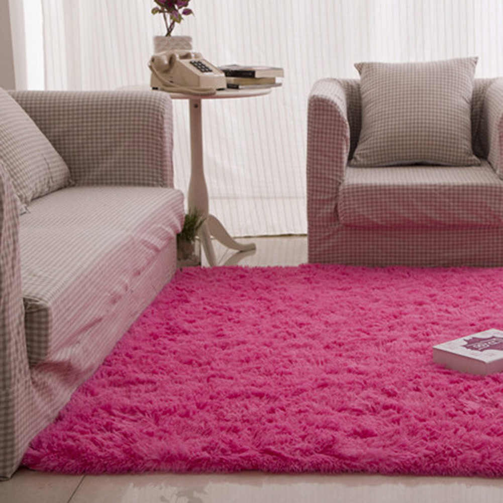Fluffy Rugs Anti Skid Shaggy Area Rug Dining 80X120 Bedroom Or Living Room Hotal
