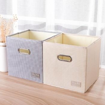 e63b513d856 Cubo plegable portátil casa suministros ropa interior calcetines organizador  y los niños juguetes cesta de almacenamiento de cosméticos caja de ...