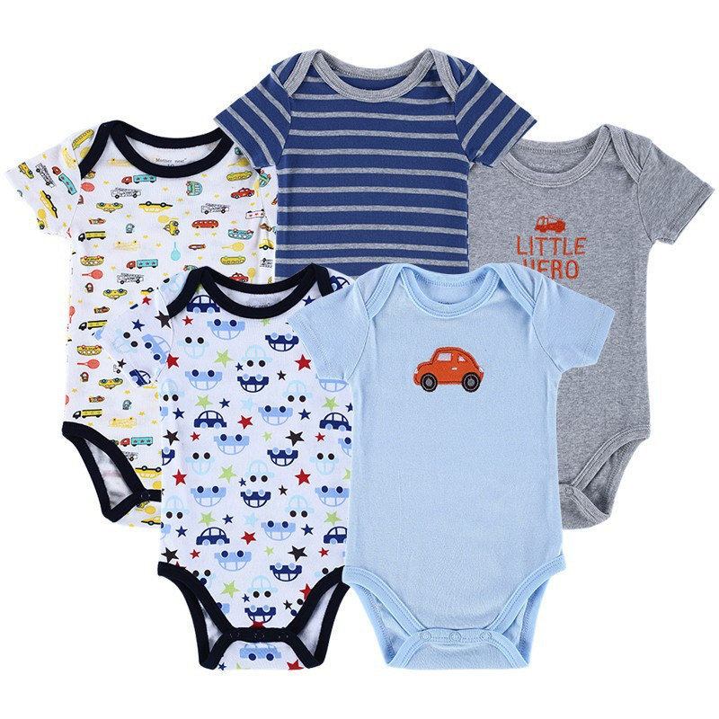 bb0313686 Mother Nest Brand 5pcs Baby Bodysuit Baby Boy Layette Summer Body Baby  Clothes Carte Style Cotton Comfortable Newborn Cloths