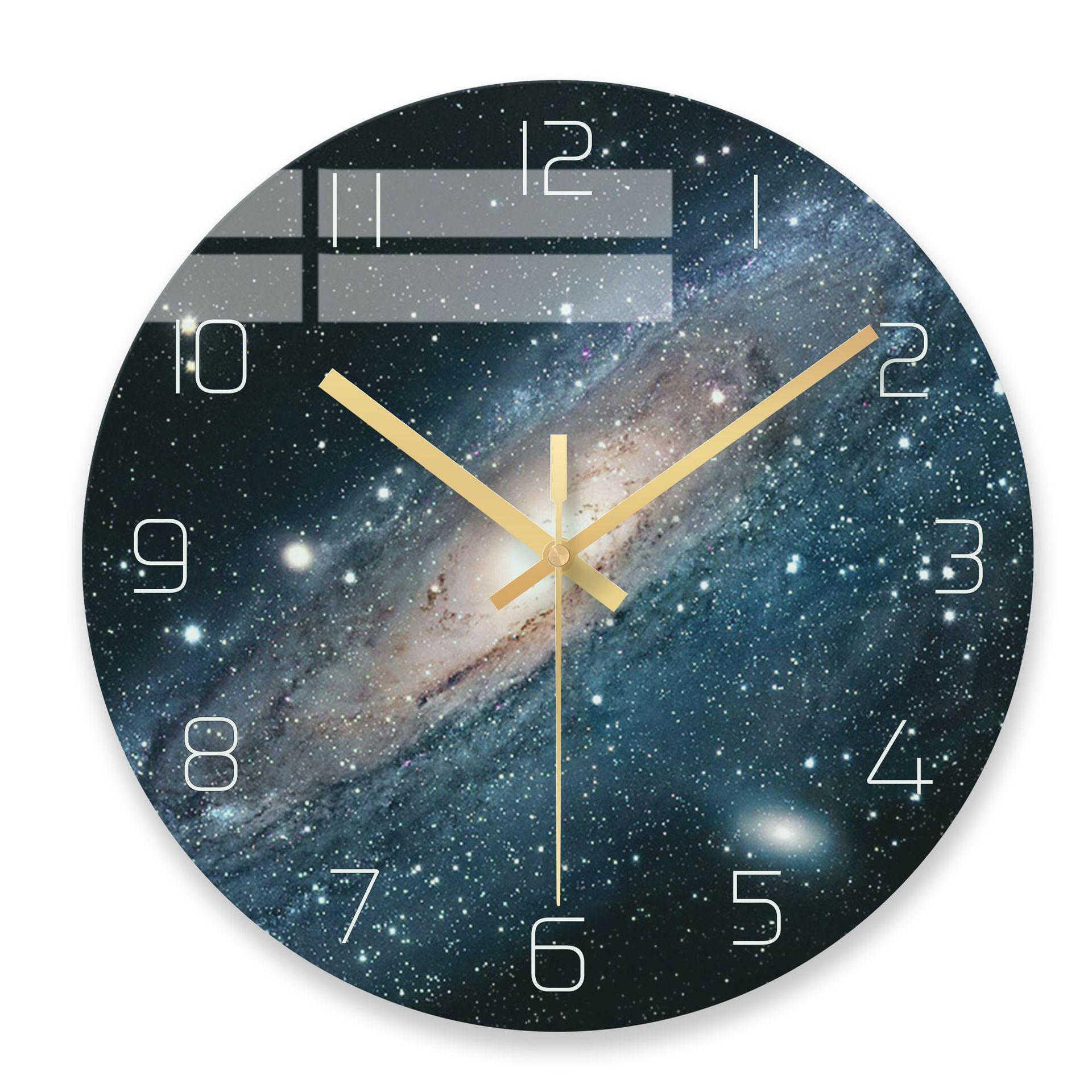 Nordic Minimalist Creative Transparent Glass Wall Clock Modern Home Clock Study Mute Clock Fashion Decorative Quartz Clock
