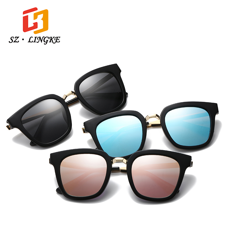 SZLINGKE Sun Glasses Fashion Designer Polarized Man Woman Unisex Sunglasses Square Metal