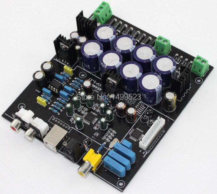 Assembled AK4490+AK4118 DAC decoding soft control board (excluding USB card) assembled fiber coaxial usb dac decoding amp board diy amp board