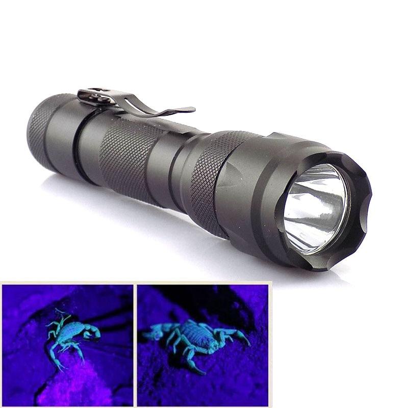 Powerful 395nm Uv Led Flashlight Flash Light Torch Lamps Ultra Violet Purple Linternas Ultraviolet Backlight for money detection
