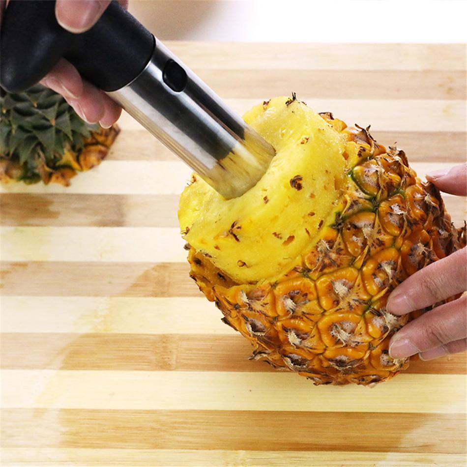 Multifunction Stainless steel cut pineapple peeled core pineapple peeler Peelers Kitchen Tools paring Knife Slicer fruit machine (7)