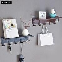Iron Kitchen tools Clothes key Bag Towel holder with shelf storage rack bathroom housekeeper wall hook for coat hanger Organizer