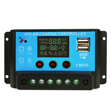 Pwm Solar Panel Charge Controller 2X Usb Auto Battery Regulator Charger, Current: 10A