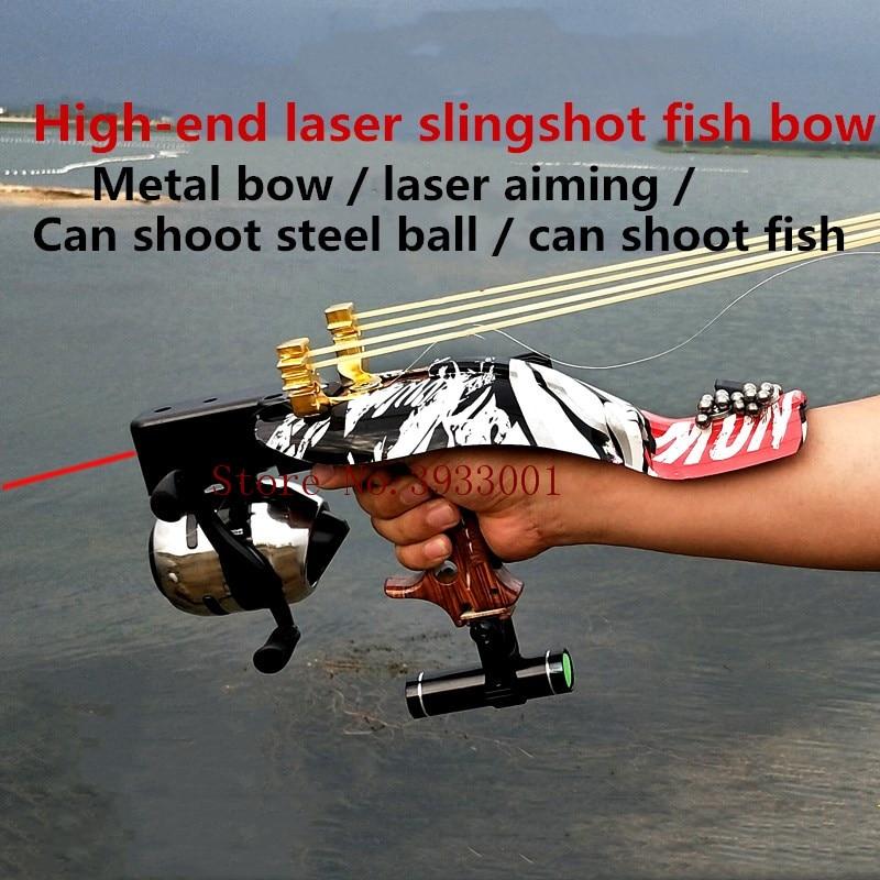 Hunting slingshot spring high speed slingshot sling outdoor with red laser sling high precision shooting fish outdoor slingshot