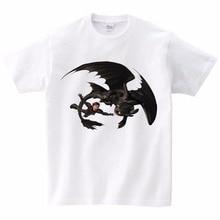 купить Black Dragon T-shirt Toothless Tops Children TShirt How To Train Your Dragon Tshirt Cotton Fabric Children Birthday Gift T shirt дешево