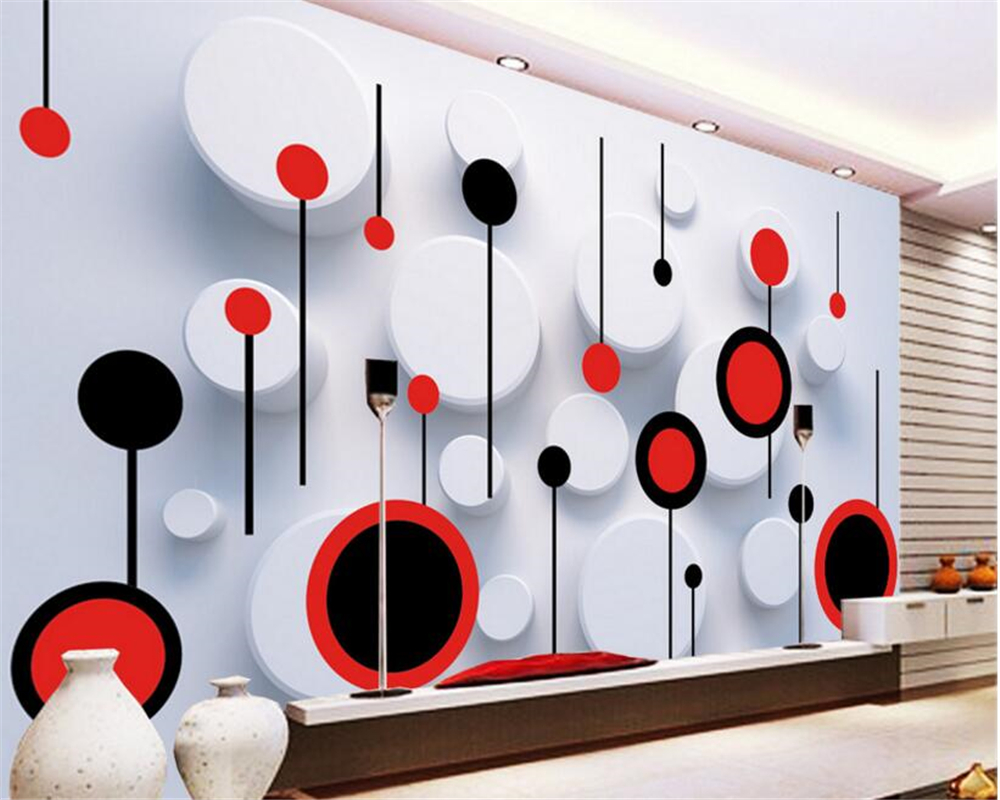 beibehang wallpaper for walls 3 d wallpaper any size fashion trend circle 3D TV backdrop wall papel de parede papier peint