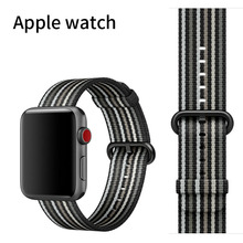 Nylon Sport bands 38mm 42mm  for apple watch series 1 2 3 woven nylon strap for iWatch colorful pattern classic buckle
