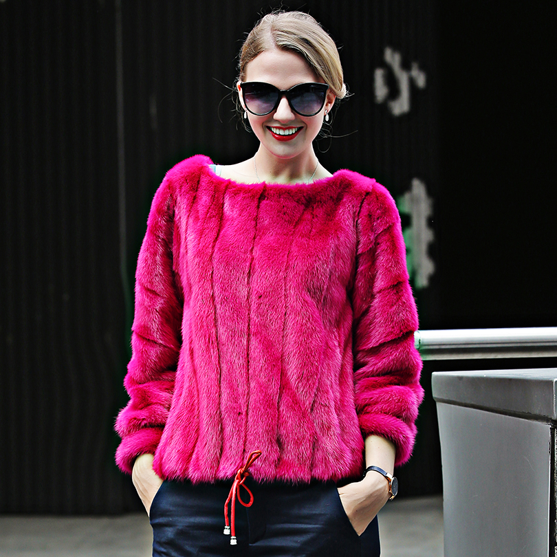Popular Red Mink Coat-Buy Cheap Red Mink Coat lots from China Red ...