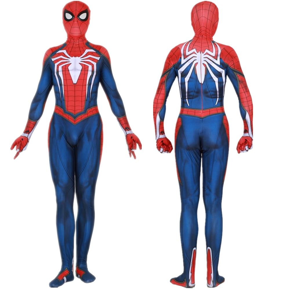 Insomniac Games Spiderman Cosplay Costume Zentai Spider Man Superhero Bodysuit Suit Jumpsuits