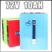 72V 10AH battery pack 1000W ebike e scooter Lithium ion battery 20A BMS and 2A Charger Free EU US customs free