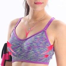 Balight, Женский Топ для йоги, спортивный бюстгальтер, для бега, спортзала, фитнеса, тренировки, тянущийся, мягкий, без проволоки, Вибростойкий, укороченный топ, пуш-ап, бесшовные бюстгальтеры