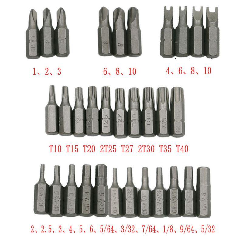 Hollow 33pcs hex wrench three wing electric screwdriver hex head 1/4 6.35mm magnetic seat Drill Bit Sets free shipping promotion 50mm hex screwdriver head screwdriver head screwdriver head screwdriver head wind