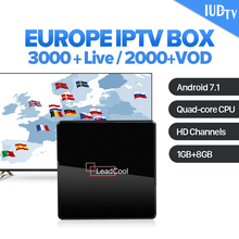 Germany Spain Italy IPTV IUDTV UK Leadcool X Android 7.1 1G+8G S905W 1 Year Code Sweden Greece Box