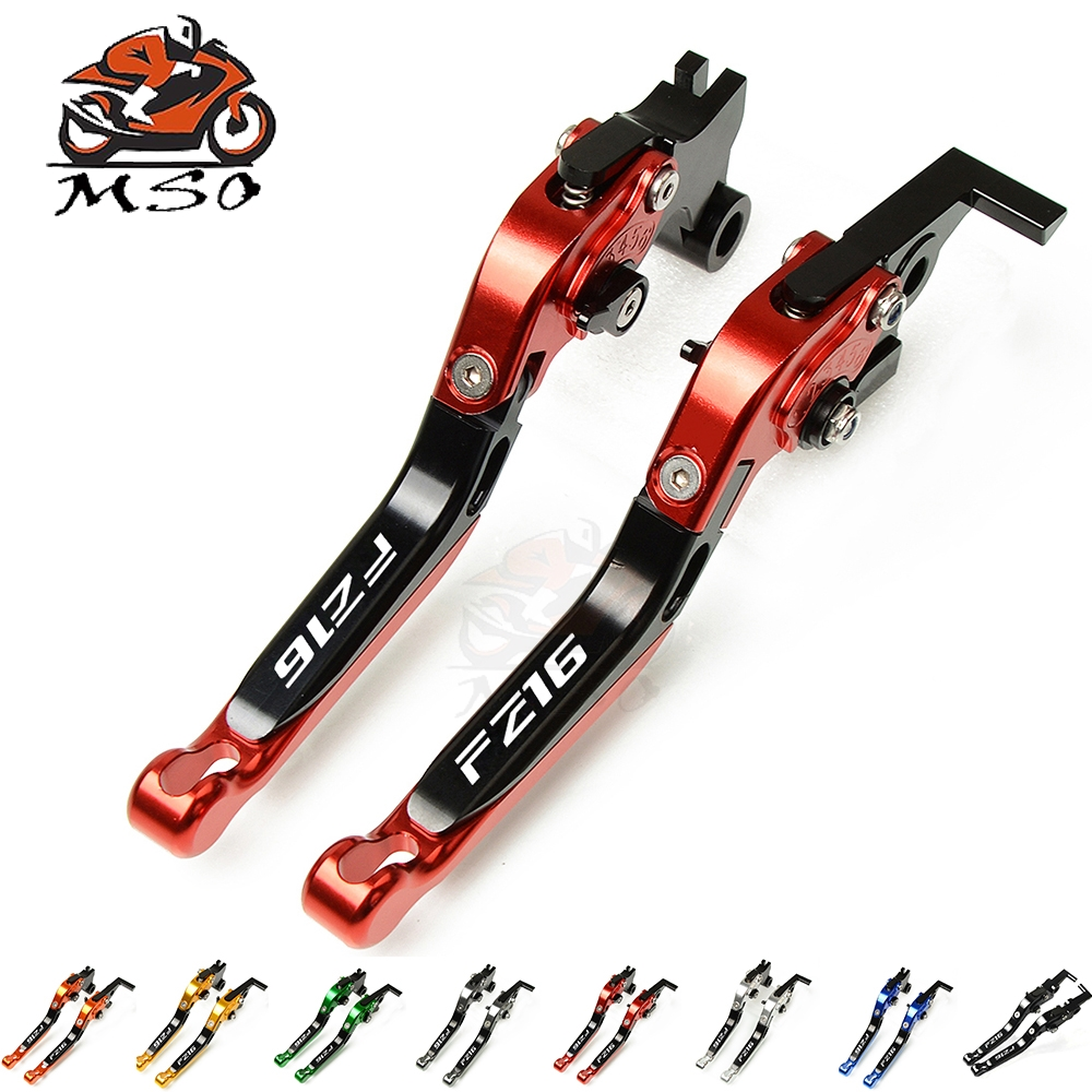 CNC Motorcycle <font><b>Parts</b></font> Adjustable Folding Extending Brake Clutch Levers For <font><b>Yamaha</b></font> <font><b>FZ16</b></font> <font><b>fz16</b></font> image